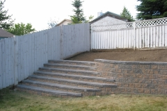 Northern Pisa 2 block retainer wall steps
