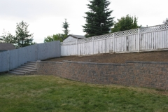 Rustic Pisa 2 with Charcoal capstone block retainer wall with steps