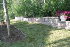 Rustic AB Stone block retainer wall
