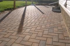 Rustic Holland paving stone patio