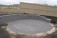 Charcoal Cobble paving stone circle patio
