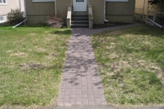 Brown Holland paving stone sidewalk