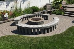 Custom stone benches
